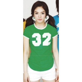 [SPAO] Girls Generation - Color Number T-shirt (S size - Green - HyoYeon)