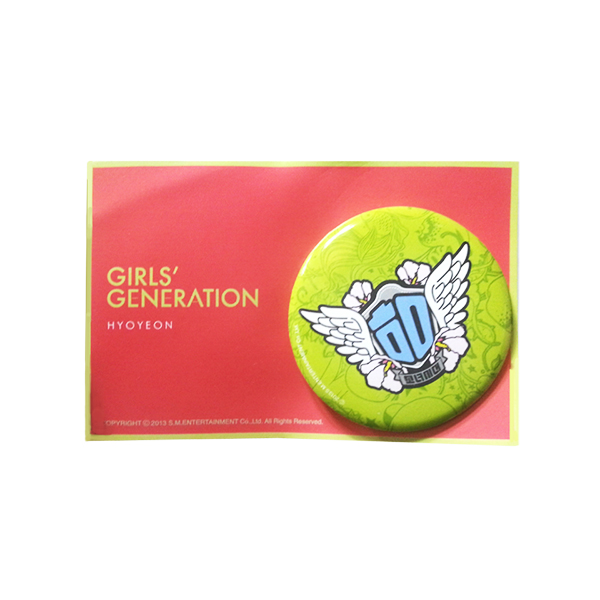 [SM Official Goods] Girls' Generation : I Got A Boy_Button (Hyo Yeon)