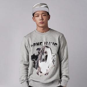 [iKON BOBBY, B.I] NONA9ON - [MEN'S] SKULL COLLAGE GRAPHIC SWEATSHIRT I