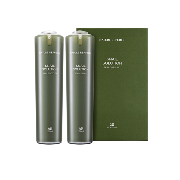 [NATURE REPUBLIC] Snail Solutions Skin Cares Two Sets (RR)