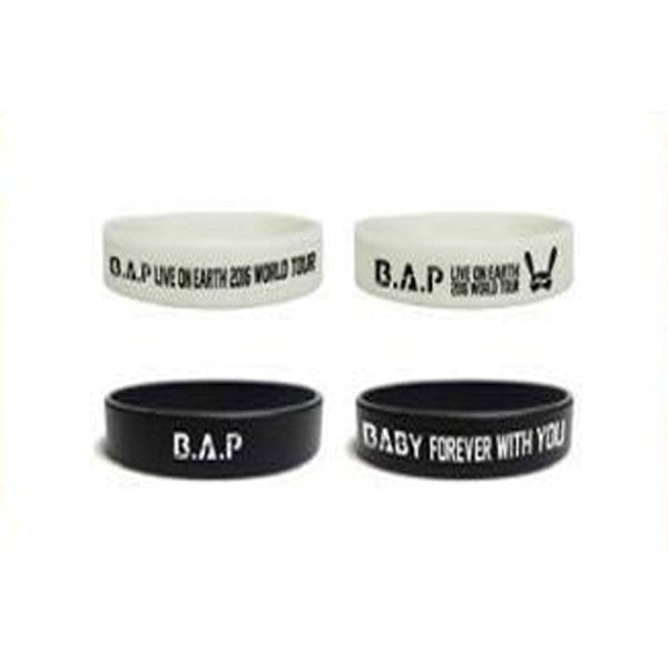 B.A.P - SILICONE BAND SET (BLACK+NIGHT GLOW) [B.A.P LIVE ON EARTH WORLD TOUR]