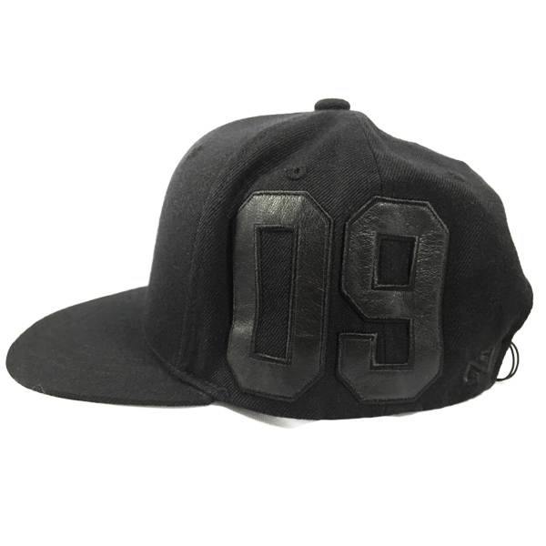 NONA9ON - [ACC] BARCODE NN9N LEATHER APPLIQUE SNAPBACK (Black) [16FW]