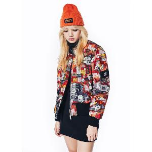NONA9ON - [ACC] TICKET APPLIQUE BASIC BEANIE (Orange) [16FW]