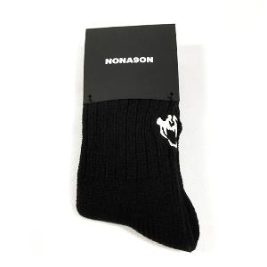 NONA9ON - [ACC] Skull Embroidery Socks (Black) [16FW]