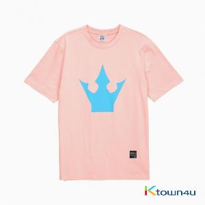 PRODUCE 101 SEASON2 - CROWN PRINTING T-SHIRTS (PINK/S)