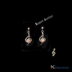 Super Junior - Super Junior Official earring (WHITE GOLD PLATING)