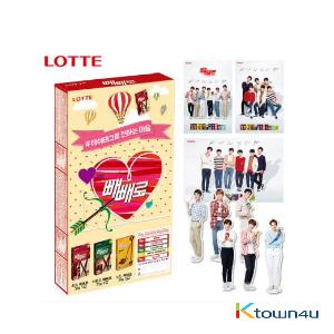 [LOTTE] Pepero 8p + Exo Mini Standing Doll 6p + Bromide 2p (Limited Edition)
