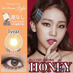 [Paul Hueman Style Premium LENS] [无度数] Paul Hueman Style Premium Honey Butter Brown