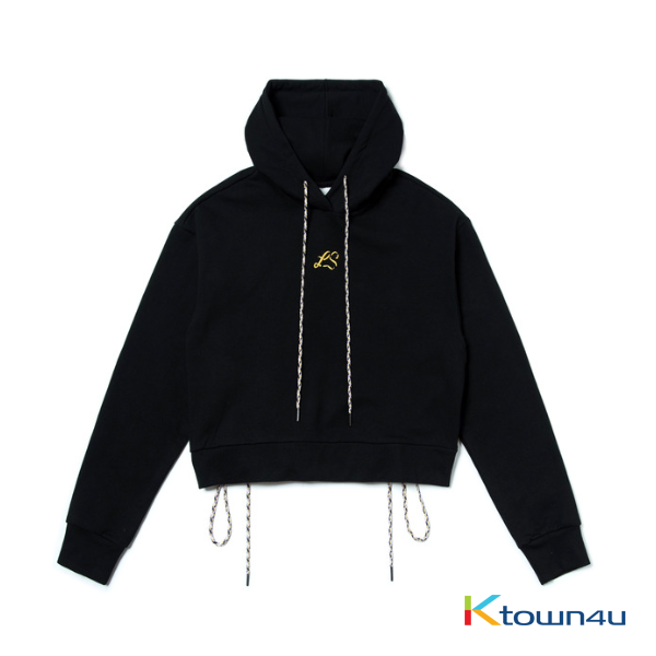 [LISA] [WOMEN'S] NONA9ON - EMBROIDERED HOODIE (BK)