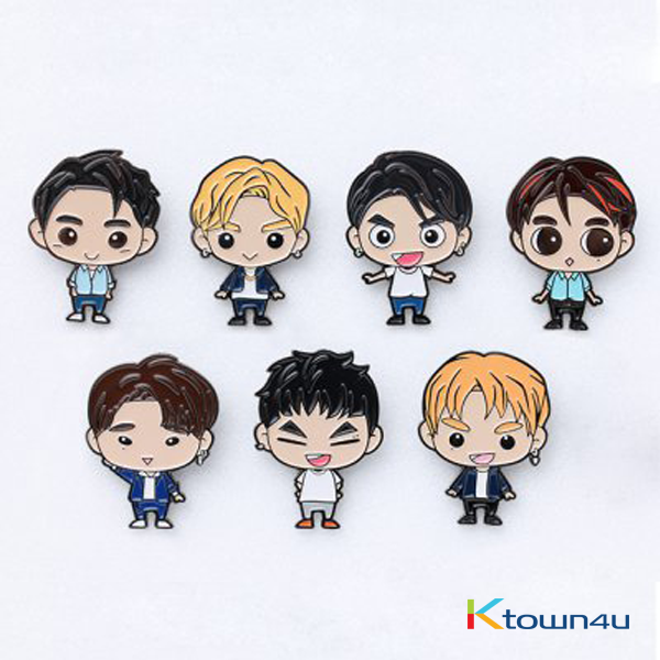 GOT7 - GOTOON BADGE [EYES ON YOU 2018 WORLD TOUR] (JACKSON) (*Order can be canceled cause of early out of stock)