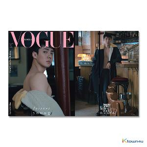吴世勋 VOGUE 2018.08 E Type (EXO : SEHUN) *Folded Poster gift