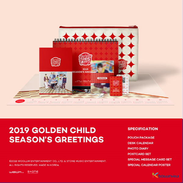 Golden Child - 2019 台历套装 2019 SEASON'S GREETINGS