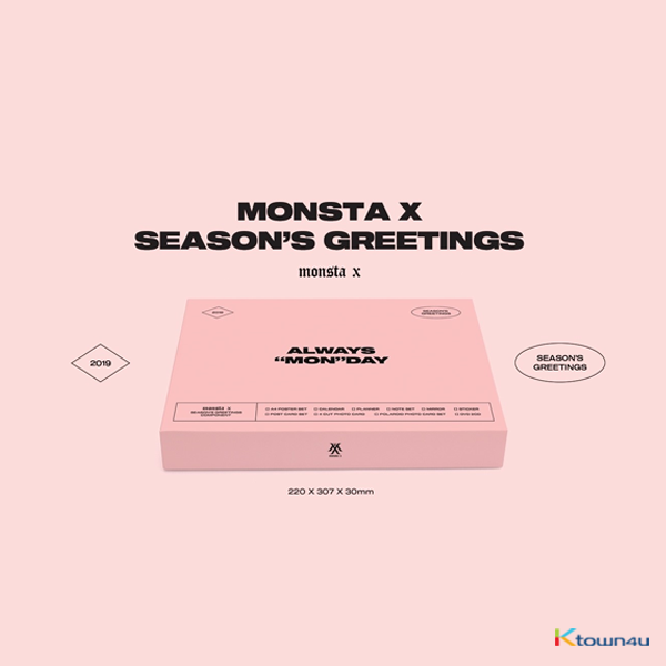 MONSTA X - 2019 SEASON'S GREETING 2019年 台历套装
