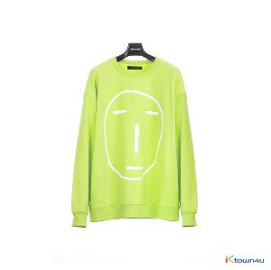 [SKULLHONG] POKER FACE SWEATSHIRT YELLOEW GREEN [19SS]