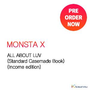 MONSTA X - ALL ABOUT LUV (Standard Casemade Book) (Income edition)  延期预计入库5/8