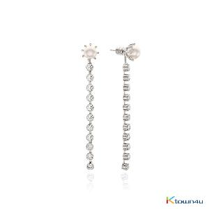 [RITA MONICA] GLAM 2WAY Earrings (WHITE GOLD)