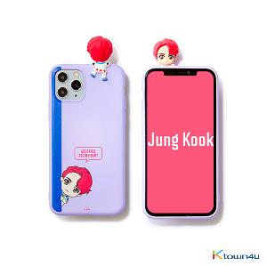 BTS- BTS Character Figure Color Jelly Case_Peek-a-boo (JUNG KOOK)