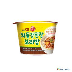 Ottogi Cup Rice Beef Brisket & Soybean Paste Sauge Barley Rige 280g*1EA