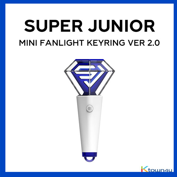 [全款 9/10截止] SUPER JUNIOR - MINI FANLIGHT KEYRING (VER 2.0) 迷你应援棒钥匙扣_宝蓝映像_FirstImpression