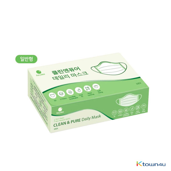 [100% Korean Production] Triple MB Filter Clean & Pure Daily Large Mask, 50ea (General ver.)