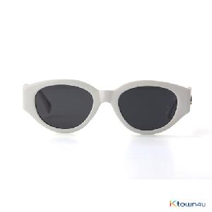 [hybition] D.fox Original sunglass_Glossy White/Black Lens
