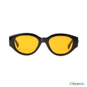 [hybition] D.fox Original sunglass_Glossy Black/Orange Tint Lens