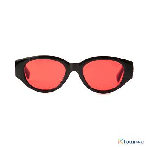 [hybition] D.fox Original sunglass_Glossy Black/Red Tint Lens
