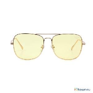 [hybition] Rover Original sunglass_Gold/Yellow Tint Lens
