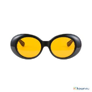 [hybition] Roswell Origin sunglassal_Glossy Black/Orange Tint Lens
