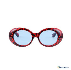 [hybition] Roswell Origin sunglassal_Glossy Red Leopard/Blue Tint Lens