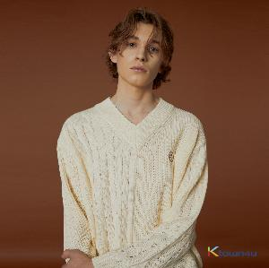 [Waikei] Mix V Neck Knit_IVORY