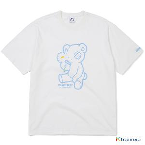[BORN CHAMPS] BLUE BEAR TEE_WHITE(M)