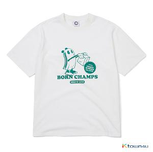 [BORN CHAMPS] CARTOON OVERFIT TEE_GREEN(M)