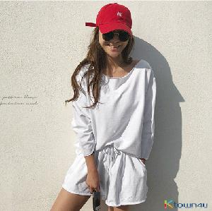 [naning9] Roinbell Sweatsuit Set_White