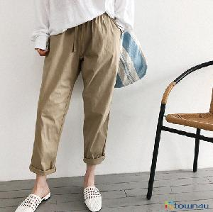 [naning9]Cuile Baggy Pants_beige