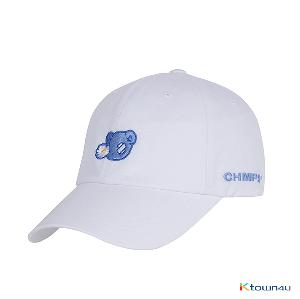 [BORN CHAMPS]BLUE BEAR BALL CAP_WHITE