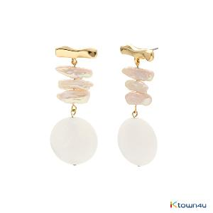 [RITA MONICA] Kinetic Pearl Earrings