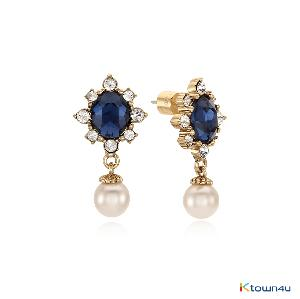 [RITA MONICA] PARIS BLUE DROP EARRINGS