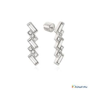 [RITA MONICA] CRYSTAL ART DECO LONG STUD EARRINGS