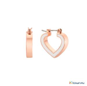 [RITA MONICA] PRECIOUS HEART HOOP EARRINGS
