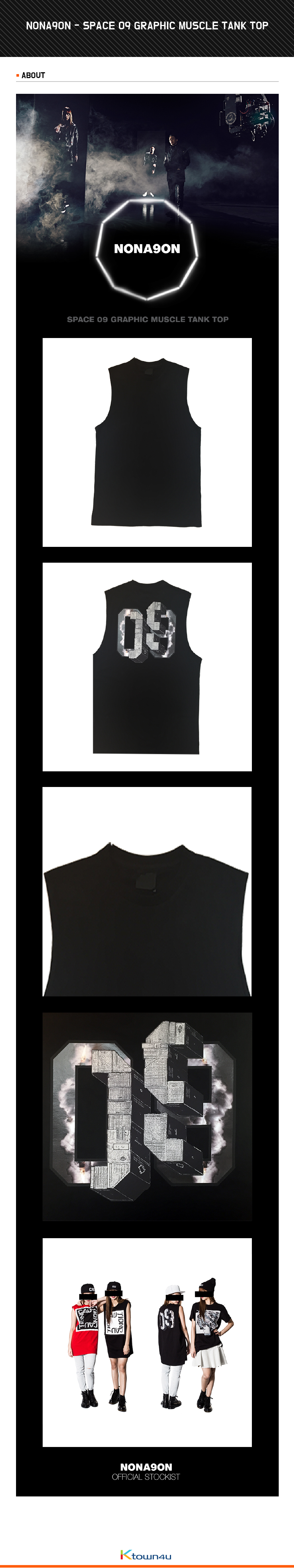 NONA9ON - [WOMEN'S] SPACE 09 GRAPHIC MUSCLE TANK TOP