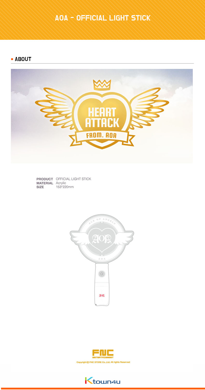 AOA - OFFICIAL LIGHT STICK [HEART ATTACK]