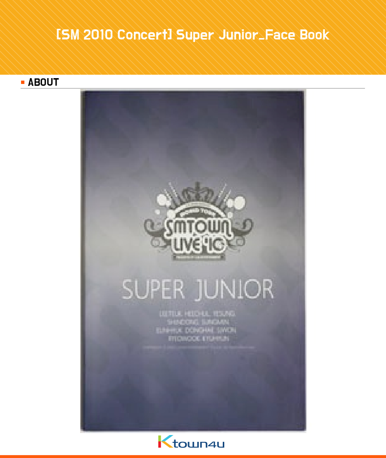 [SM 2010 Concert] [SM Official Goods] Super Junior_Face Book