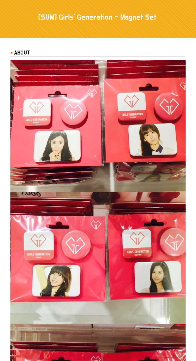 [SUM] Girls` Generation - Magnet Set