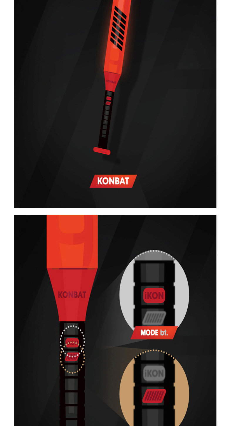 iKON - OFFICIAL LIGHT STICK 应援棒 [KONBAT]
