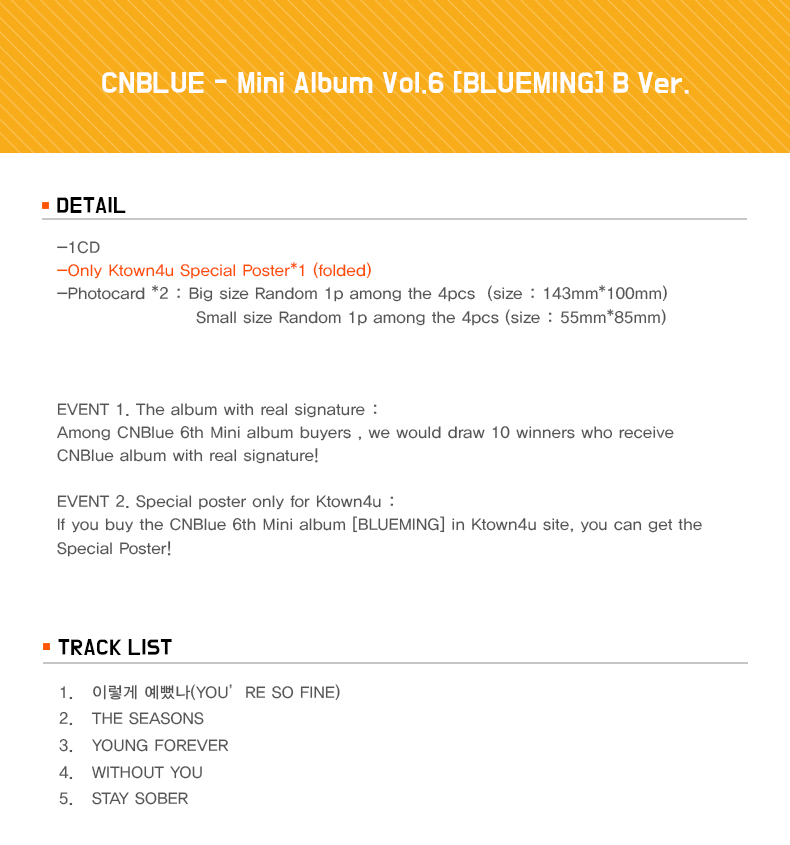 CNBLUE - Mini Album Vol.6 [BLUEMING] B Ver.