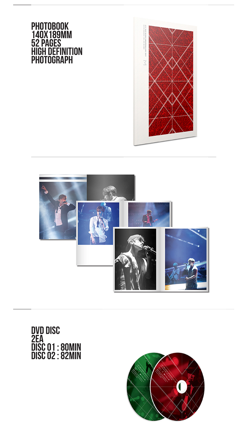 [DVD] SHINHWA: M (LEE MIN WOO) - CHRISTMAS LIVE 2015 ON THE RECORD+OFF THE RECORD DVD