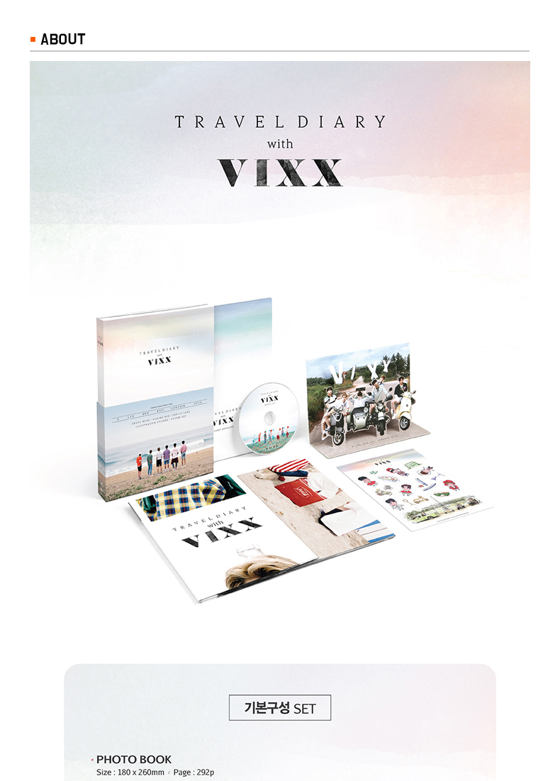 ONLY Ktown4u Give Away Event : [Photobook&DVD] VIXX - VIXX 2016 PHOTOBOOK [TRAVEL DIARY with VIXX]