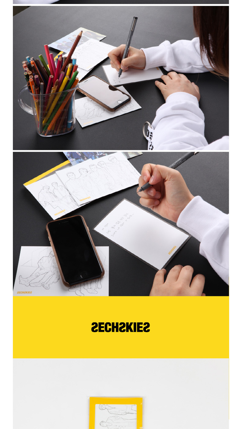 SECHSKIES - COLORING POSTCARD SET [2017 SECHSKIES YELLOW NOTE FINAL IN SEOUL]