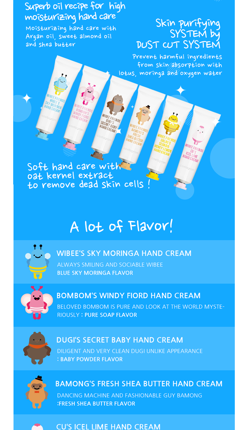[costagram] WIBEE FRIENDS HYDRATING HAND CREAM (Fresh Shea Butter)